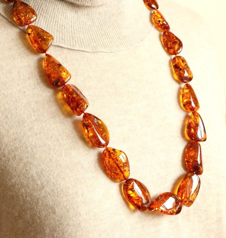 Unique Honey Amber Necklace...