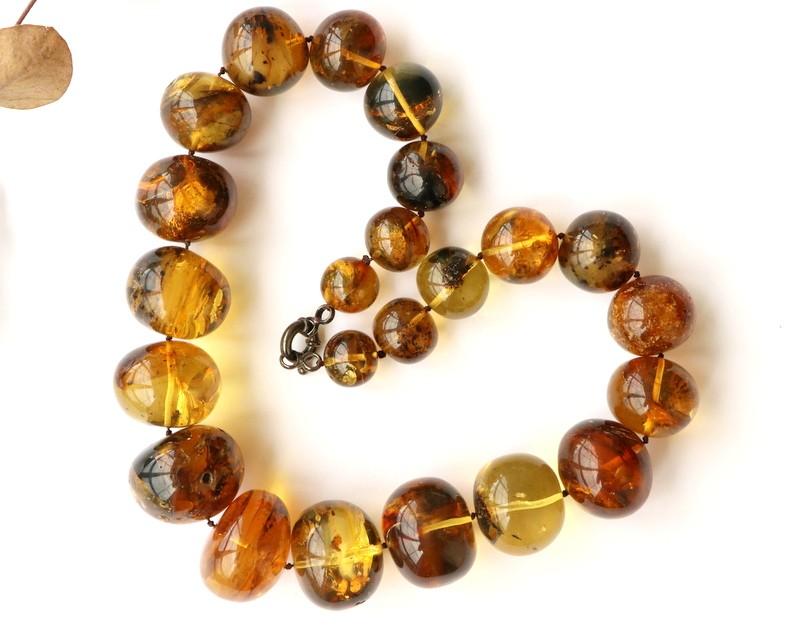 Massive semi round amber...