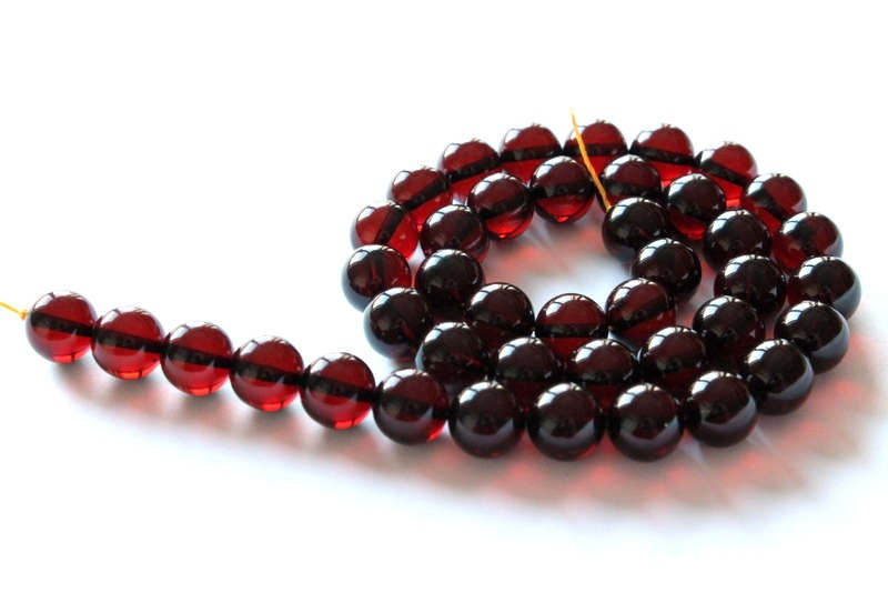 Cherry color amber strand,...
