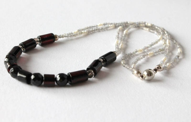 Amber necklace with...