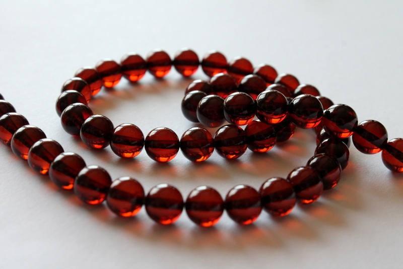 7.5 mm amber string,...