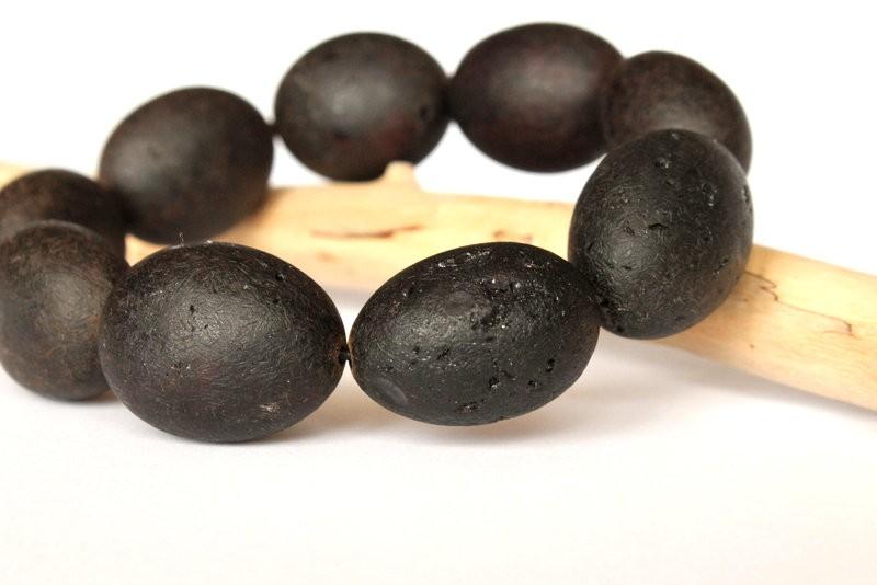 Black amber bracelet for...