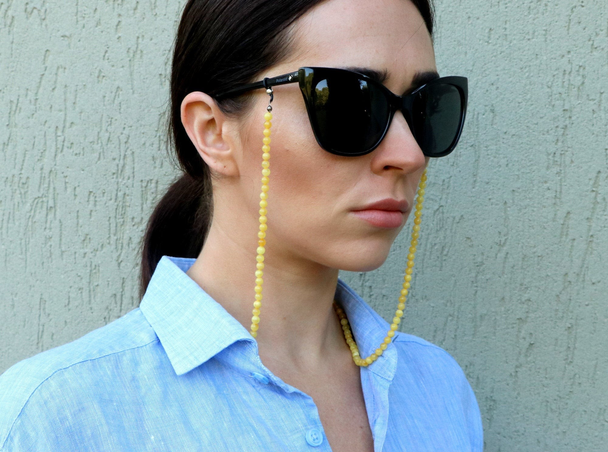 Amber chain for glasses,...
