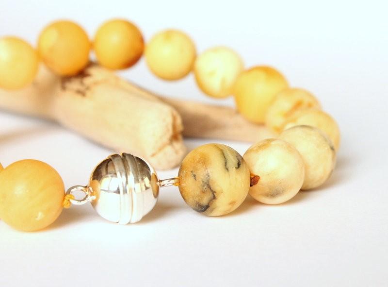 Yellow amber bracelet for...