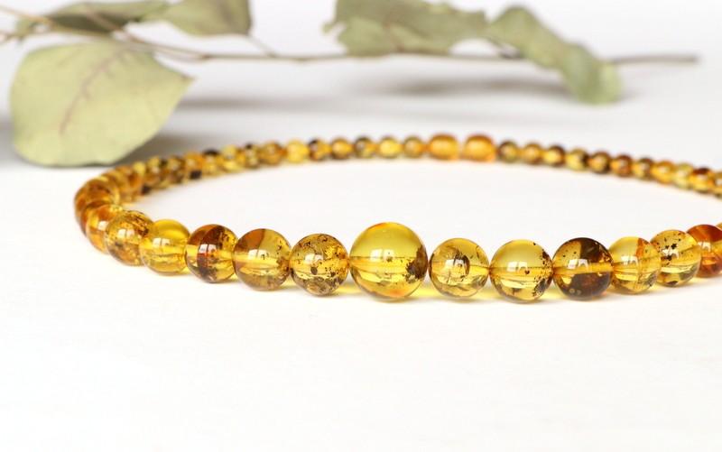 Gold lemon genuine amber...